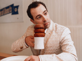 Rob McClure enjoys a cup of joe—and a few treats!