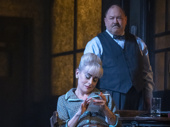 Tracie Bennett as Alice and Mark Addy as Harry in Hangmen.