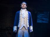 Jin Ha as Aaron Burr in Hamilton.