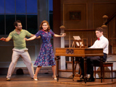 Corbin Bleu as Ted, Lora Lee Gayer as Linda and Bryce PInkham as Jim in Holiday Inn.