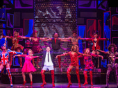 Aaron C. Finley and the cast of Kinky Boots.
