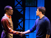 Alan Mingo Jr. as Lola and Aaron C. Finley as Charlie Price in Kinky Boots.