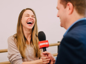 Sutton Foster shares a laugh with Broadway.com Editor-in-Chief Paul Wontorek.