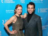 Holiday Inn co-stars Megan Sikora and Corbin Bleu look sharp on the red carpet.