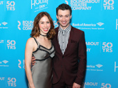 Awww! Holiday Inn star Bryce Pinkham steps out with his baby, fellow actor Emily Young.