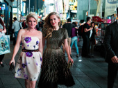 Glam girls! Lora Lee heads to the Hard Rock with Holiday Inn co-star Megan Lawrence.
