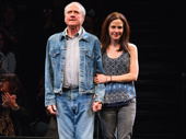 Heisenberg's heavy hitters Denis Arndt and Mary-Louise Parker take in the applause on opening night.