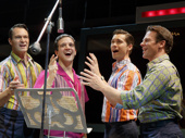 Matt Bogart as Nick, Mark Ballas as Frankie, Drew Seeley as Bob and Nicolas Dromard as Tommy in Jersey Boys.