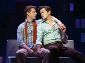 Christian Borle as Marvin and Andrew Rannells as Whizzer in Falsettos.