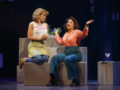 Betsy Wolfe as Cordelia and Tracie Thoms as Charlotte in Falsettos.
