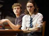 Ben Rosenfield as Jamie and Zoe Kazan as Rose in Love, Love, Love.