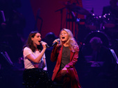 "Anne Hathaway and Kelli O'Hara tackle Judy Garland and Barbra Streisand's iconic duet ""Get Happy/Happy Days Are Here Again.""(Photo: Justin Sullivan/Getty Images)"