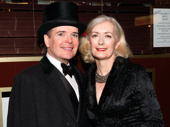 The Front Page's Jefferson Mays and his wife Susan are looking spiffy for Mays' first Broadway stint this season! He will also star in Oslo in March 2017.