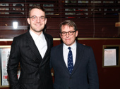 Awwww! It's Only a Play reunion! The Front Page's Micah Stock snaps a sweet pic with former co-star Matthew Broderick.