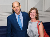 Anthony Edwards and his wife Jeanine Lobell spend date night at The Front Page's Broadway opening.