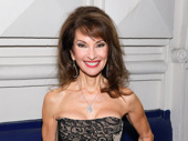 Emmy winner Susan Lucci attends the starry opening of The Front Page on Broadway.