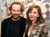 Big sis and her hubby came out! Actors Peter Sarsgaard and Maggie Gyllenhaal spend date night at City Center's Sunday in the Park with George to support Jake Gyllenhaal.