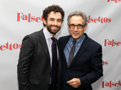 The doctors are in! Falsettos star Brandon flashes a smile with original Mendel Chip Zien.