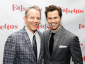 Two Whizzers: Original star Stephen Bogardus and revival star Andrew Rannells celebrate Falsettos' Broadway return.