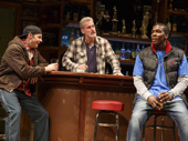 Will Pullen as Jason, James Colby as Stan and Khris Davis as Chris in Sweat.