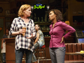 Johanna Day as Tracey and Michelle Wilson as Cynthia in Sweat.