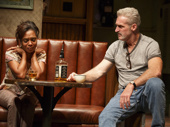 Michelle Wilson as Cynthia and James Colby as Stan in Sweat.