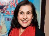 Socorro Santiago flashes a smile on her opening night in off-Broadway's Kingdom Come.