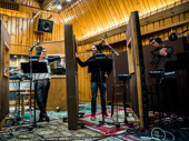 Broadway's tight-knit family hits the studio! Falsettos stars Stephanie J. Block, Christian Borle and Andrew Rannells record the forthcoming cast album.