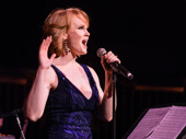 """Kate Baldwin, who will appear in the highly anticipated revival of Hello, Dolly! this spring, dazzles the crowd. She performs """"Hard Candy Christmas"""" from The Best Little Whorehouse in Texas."""