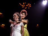 Denée Benton as Natasha and Amber Gray as Helene in Natasha, Pierre and the Great Comet of 1812.