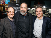 One of Stephen Sondheim's most beloved leading men Mandy Patinkin congratulates Lonny Price and Bruce David Klein at the Merrily We Roll Along doc screening.