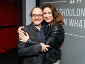 Awww! Falsettos star Stephanie J. Block and Best Worst Thing That Ever Could Have Happened director Lonny Price hug it out.