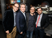 It's their time, breathe it in! Best Worst Thing That Ever Could Have Happened producers Ted Schillinger, Bruce David Klein, director Lonny Price and producer Kitt Lavoie take a photo. Catch the Merrily We Roll Along doc when it hits theaters in NYC on November 18.