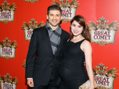 Tony nominee Tony Yazbeck and his wife Katie Huff step out.