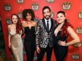 Natasha, Pierre and the Great Comet of 1812 cast members Lauren Zakrin, Erica Dorfler, Heath Saunders and Katrina Yaukey snap a fun group shot.