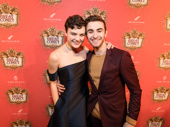 So You Think You Can Dance alums and current Broadway stars Melanie Moore (Fiddler on the Roof) and Ricky Ubeda (Cats) pal around on the red carpet.