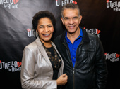 Theater couple Allyson Tucker and Brian Stokes Mitchell are all smiles.