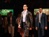 A Bronx Tale star Bobby Conte Thornton beams on opening night. This production marks his Broadway debut.