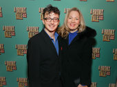 A Bronx Tale set designer Beowulf Boritt celebrates opening night with his wife Mimi Bilinski.