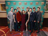 A Bronx Tale's superb ensemble takes a family photo on opening night.