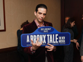 Welcome to Belmont Avenue, Nick Cordero! Catch A Bronx Tale at the Longacre Theatre.