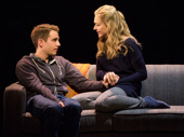 Ben Platt as Evan Hansen and Rachel Bay Jones as Heidi Hansen in Dear Evan Hansen.(Original Broadway cast)