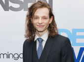 Dear Evan Hansen's Mike Faist flashes a smile on his opening night.
