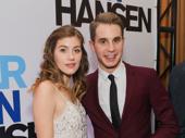 Dear Evan Hansen's Laura Dreyfuss and Ben Platt pose for a photo.