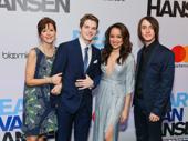 Dear Evan Hansen's amazing ensemble members Garrett Long, Colton Ryan, Olivia Puckett and Michael Lee Brown celebrate their Great White Way opening.