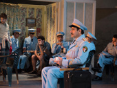 Tony Shalhoub and the cast of The Band's Visit.