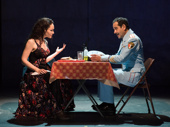 Katrina Lenk and Tony Shalhoub in The Band's Visit.