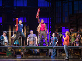 Todrick Hall as Lola and the cast of Kinky Boots.