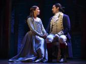 Lexi Lawson as Eliza Hamilton and Javier Muñoz as Alexander Hamilton in Hamilton.