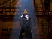 Brandon Victor Dixon as Aaron Burr in Hamilton.